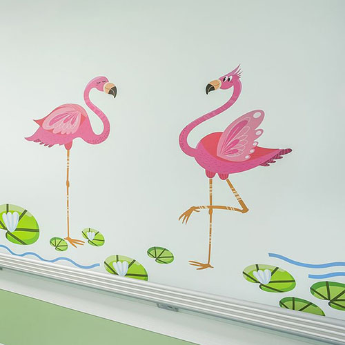 Оформление стен детского эндокринологического центра