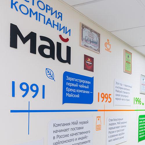 дизайн офиса компании МАЙ