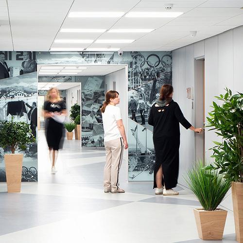 Дизайн коридоров офиса