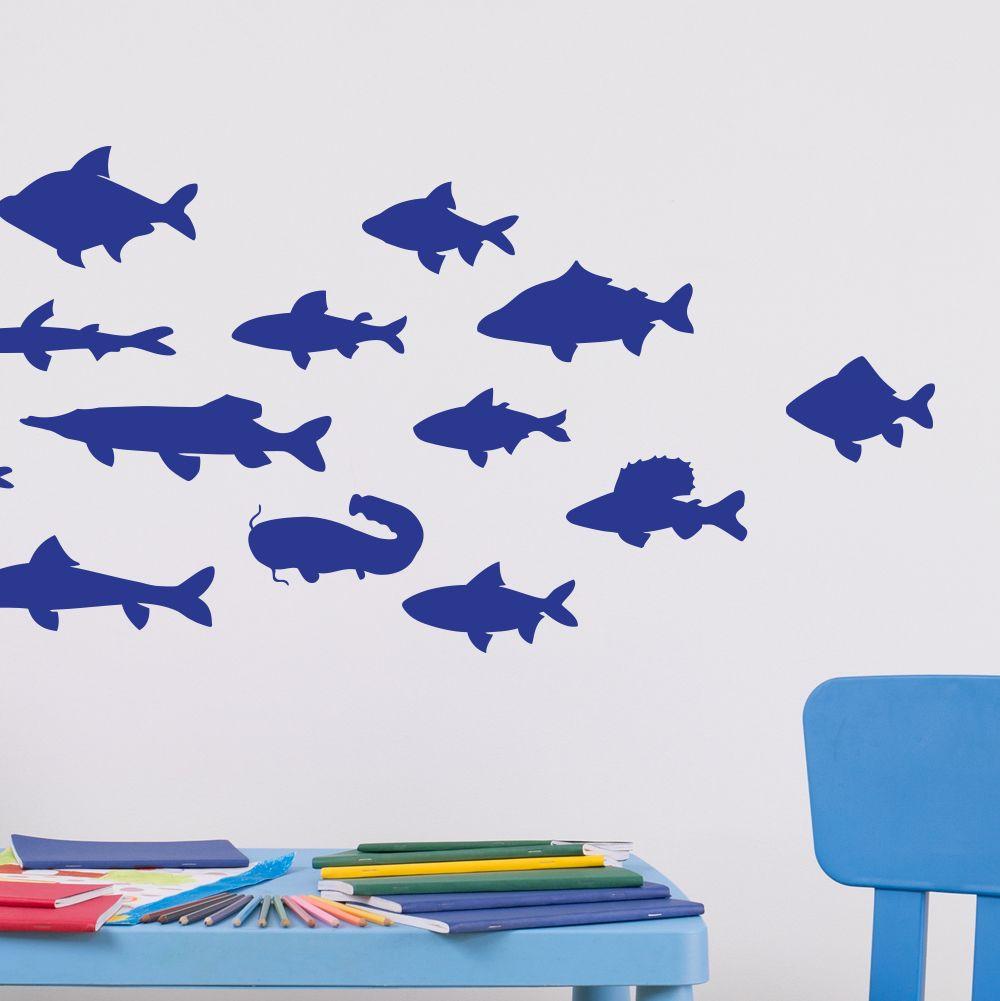 Изображение Косяк рыб