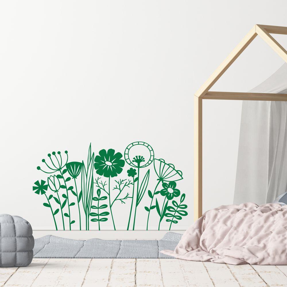 Изображение Поляна с экзотическими цветами