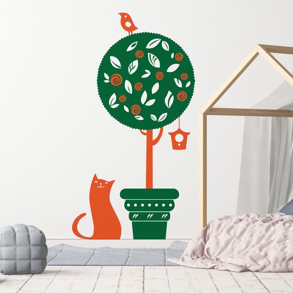 Изображение Кошка и птица