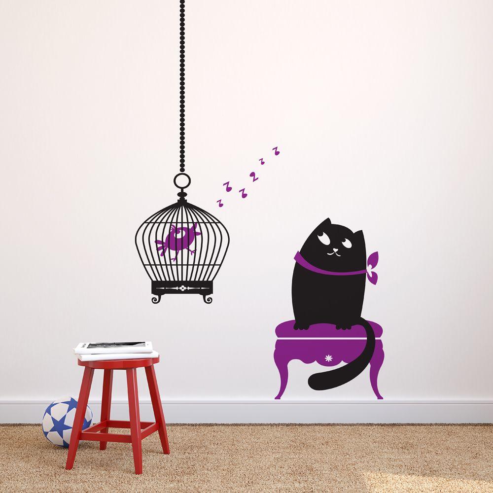 Изображение Кошка и существо в клетке