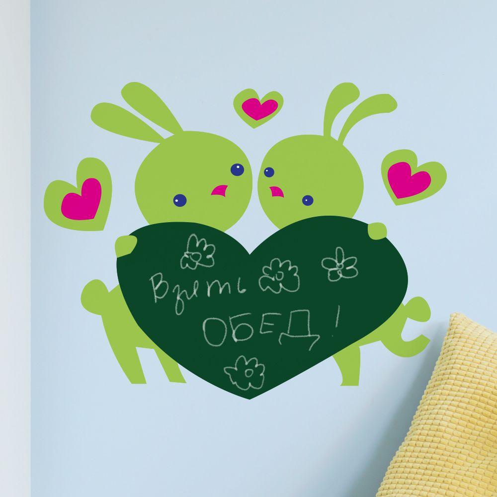 Изображение Наклейка «Два зайчика»