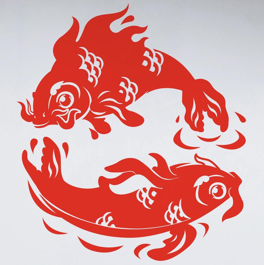 Изображение Две золотые рыбки