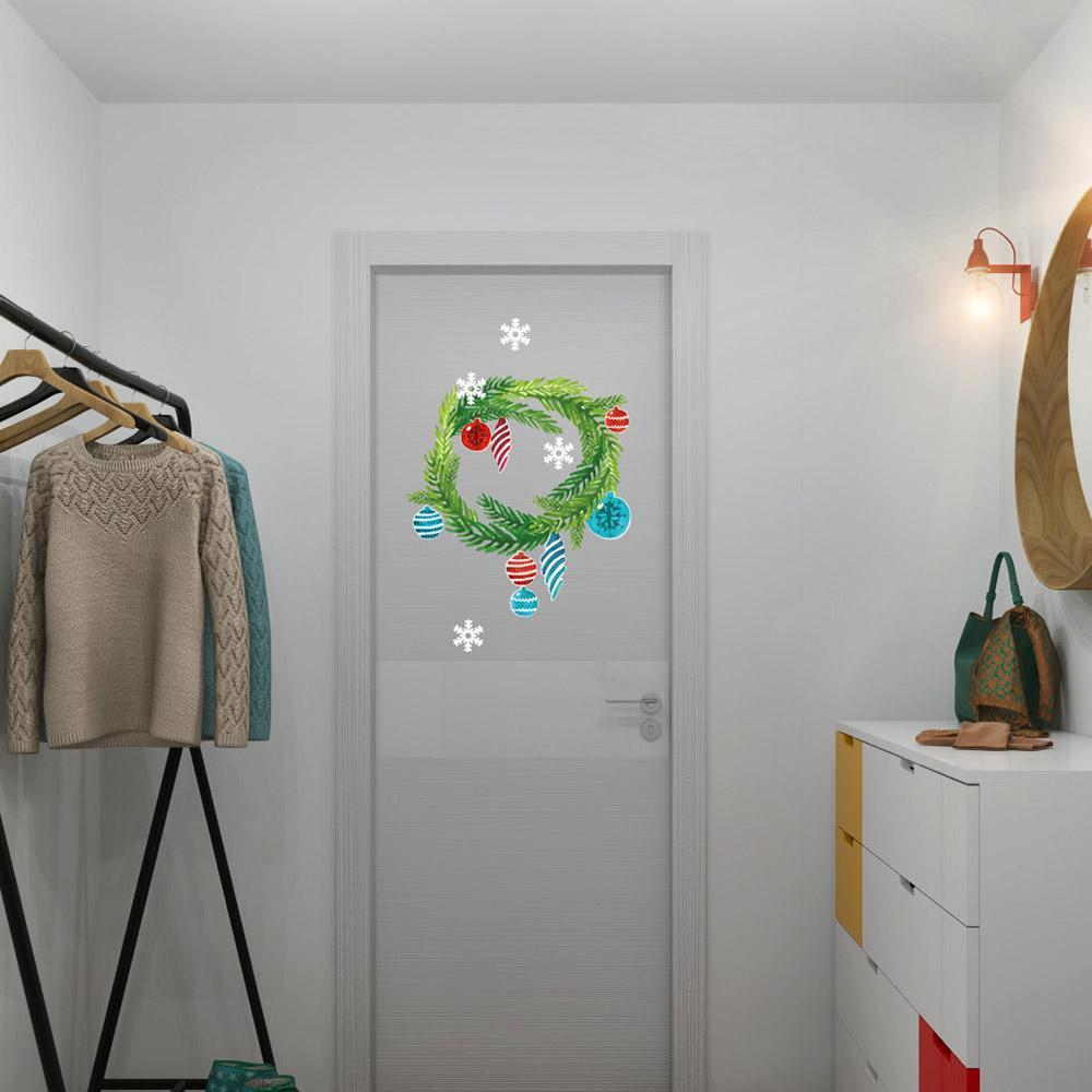 Изображение Новогодний венок на дверь (коллекция Акварель)