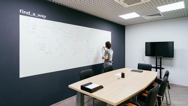 Изображение 12 - типографика в оформлении стен офиса компании Эскейп