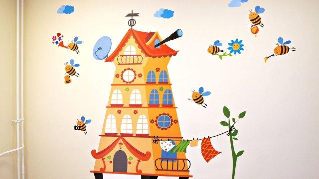 Изображение 9 - Оформления стен детского центра Улей