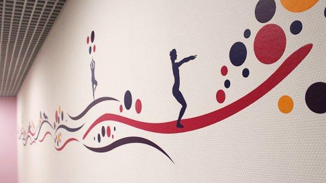 Изображение 1 - оформление стен фитнесс-клуба