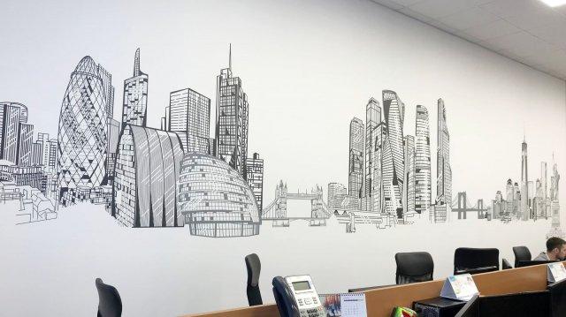 """Изображение 6 - Декор стены операционного центра """"Ренессанс страхование"""""""