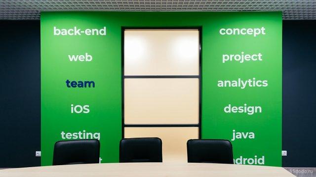 Изображение 15 - типографика в оформлении стен офиса компании Эскейп
