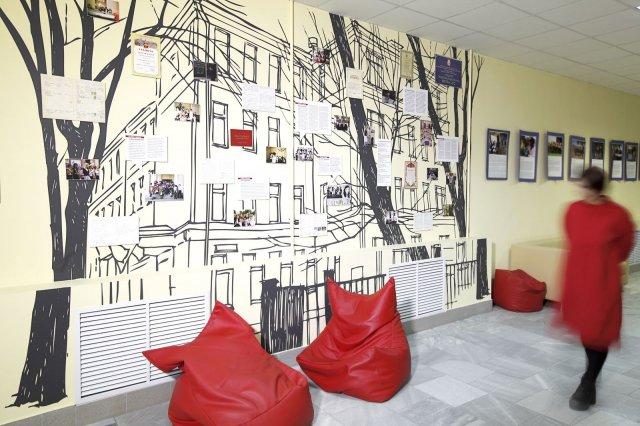 Изображение 1 - оформление стен высшей школы экономики